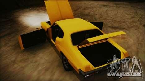 Pontiac Lemans Hardtop Coupe 1971 FIV АПП para visión interna GTA San Andreas