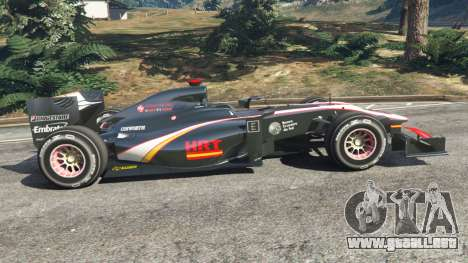 GTA 5 Hispania F110 (HRT F110) v1.1 vista lateral izquierda