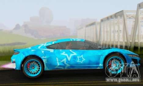 Dinka Jester (GTA V) Blue Star Edition para GTA San Andreas left