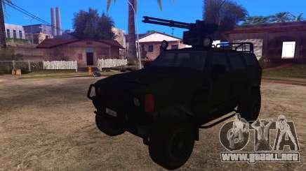 Komatsu LAV 4x4 with Vulcan Gatling Gun para GTA San Andreas