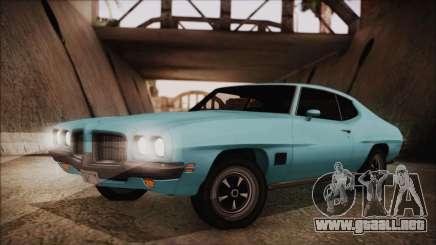 Pontiac Lemans Hardtop Coupe 1971 para GTA San Andreas