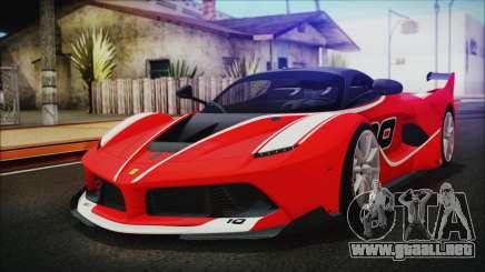 Ferrari FXX K 2016 v1.1 [HQ] para GTA San Andreas