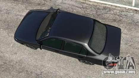 GTA 5 Toyota Corolla 1.6 XEI [black edition] v1.02 vista trasera
