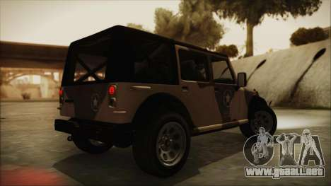GTA 5 Canis Crusader para GTA San Andreas left