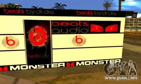 Monster Beats Studio by 7 Pack para GTA San Andreas tercera pantalla