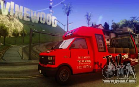 TMZ Tourbus para GTA San Andreas left