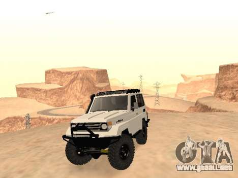 Toyota Machito Off-Road (IVF) 2009 para GTA San Andreas vista hacia atrás