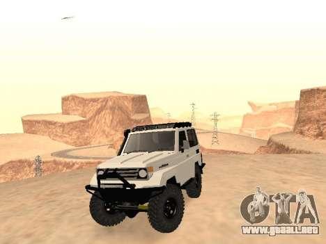 Toyota Machito Off-Road (IVF) 2009 para GTA San Andreas vista hacia atrás