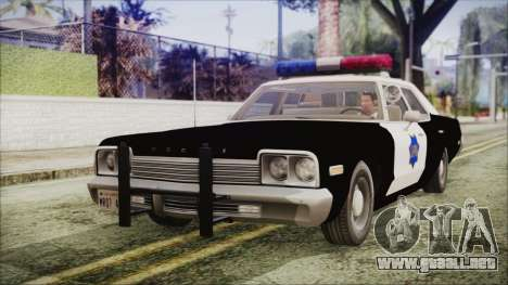 Dodge Monaco 1974 SFPD IVF para GTA San Andreas