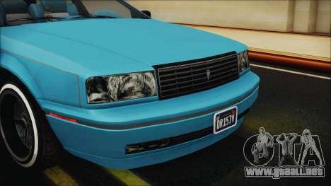 GTA 5 Albany Primo Custom Bobble Version IVF para vista lateral GTA San Andreas