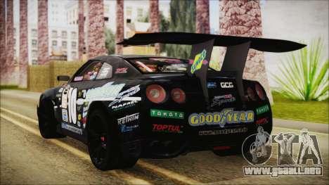 Nissan GT-R R35 Naoto para GTA San Andreas left