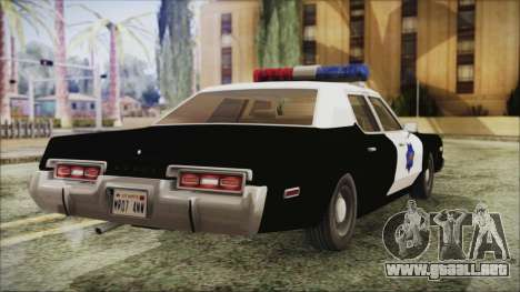 Dodge Monaco 1974 SFPD para GTA San Andreas left