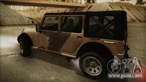 GTA 5 Canis Crusader para GTA San Andreas vista posterior izquierda