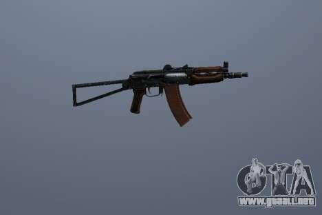 AK-74U para GTA San Andreas segunda pantalla