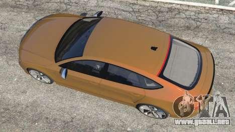 GTA 5 Audi RS7 2016 vista trasera