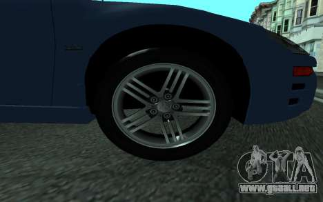 Mitsubishi Eclipse GTS Tunable para GTA San Andreas vista posterior izquierda