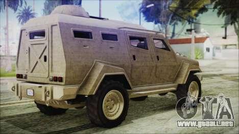 GTA 5 HVY Insurgent Van para GTA San Andreas left