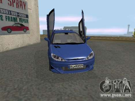 Pegeout 206 PickUP para GTA San Andreas left