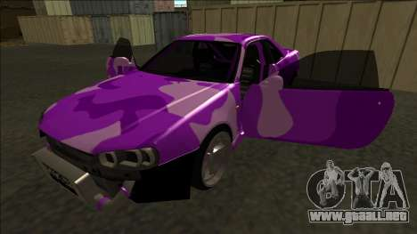 Nissan Skyline R34 Drift para vista inferior GTA San Andreas