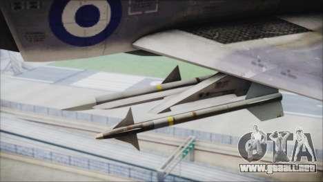 McDonnell Douglas F-4N Hellenic Air Force para la visión correcta GTA San Andreas