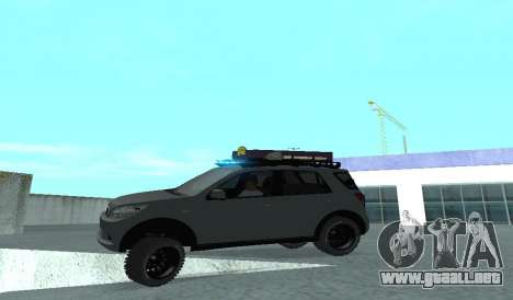 Toyota Terios 2009 OFF-ROAD MUD-TERRAIN para la vista superior GTA San Andreas