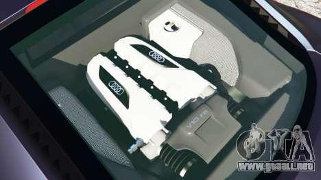 GTA 5 Audi R8 Quattro vista lateral trasera derecha