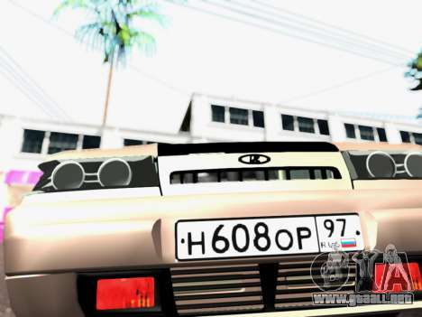 VAZ 2111 Tuning para GTA San Andreas vista hacia atrás
