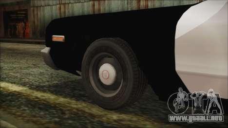 Dodge Monaco 1974 LVPD para GTA San Andreas vista posterior izquierda