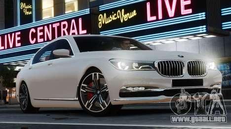 BMW 7-er 2016 para GTA 4 left