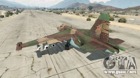 GTA 5 Su-25 v1.1 tercera captura de pantalla