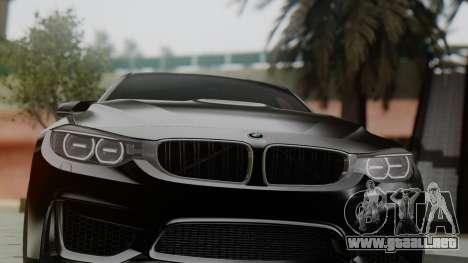 BMW M3 F30 SEDAN para GTA San Andreas vista hacia atrás