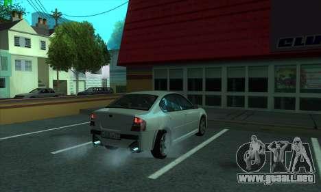 Subaru Legacy para GTA San Andreas vista hacia atrás