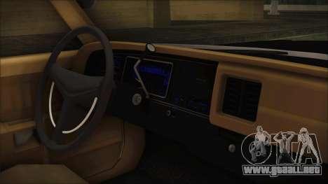 Dodge Monaco 1974 LVPD IVF para la visión correcta GTA San Andreas