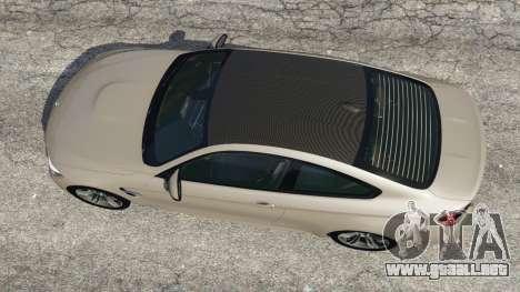 GTA 5 BMW M4 2015 v1.1 vista trasera