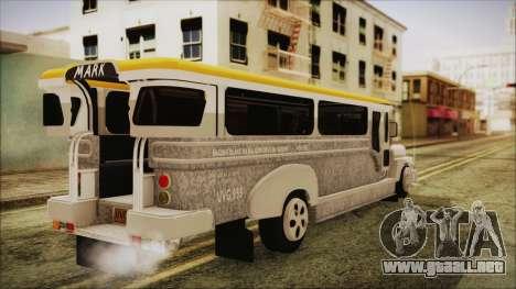 Markshop Jeepney para GTA San Andreas left