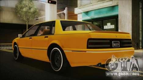 GTA 5 Albany Primo Custom Bobble Version para GTA San Andreas left