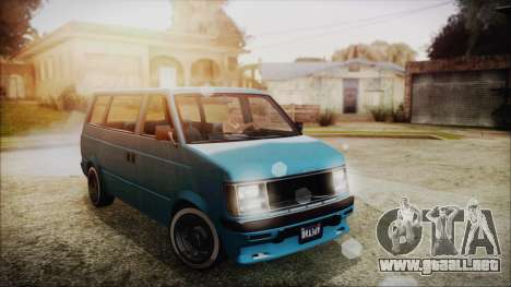 GTA 5 Declasse Moonbeam No Interior para GTA San Andreas