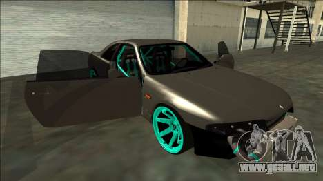 Nissan Skyline R33 Drift para vista inferior GTA San Andreas