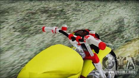 Yamaha Tuning Full Cromo para GTA San Andreas vista hacia atrás