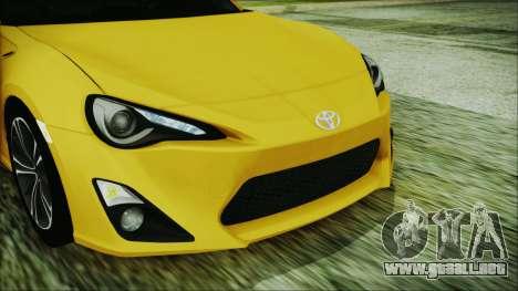 Toyota GT86 (ZN6) 2012 HD Algeria PJ para visión interna GTA San Andreas