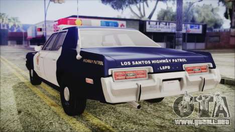 Dodge Monaco 1974 LSPD Highway Patrol Version para GTA San Andreas left