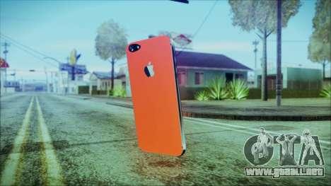 iPhone 5 Red para GTA San Andreas segunda pantalla