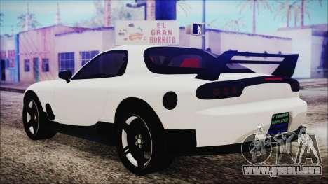 Mazda RX-7 Enhanced Version para GTA San Andreas left