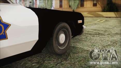 Dodge Monaco 1974 SFPD para GTA San Andreas vista posterior izquierda