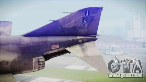 McDonnell Douglas F-4N Hellenic Air Force para GTA San Andreas vista posterior izquierda