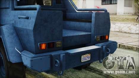 GTA 5 HVY Insurgent Pick-Up IVF para la vista superior GTA San Andreas