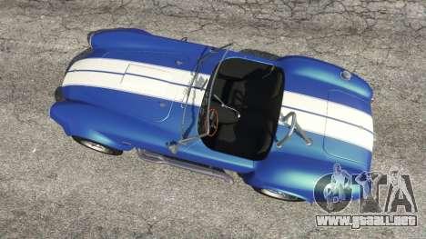 GTA 5 AC Cobra v1.3 vista trasera
