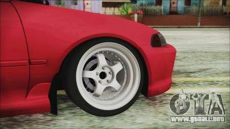 Honda Civic EG6 Hellaflush para GTA San Andreas vista posterior izquierda
