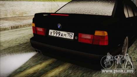BMW 535i E34 para GTA San Andreas vista hacia atrás