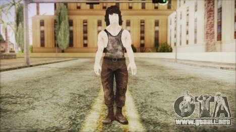 Rambo Shirt para GTA San Andreas segunda pantalla